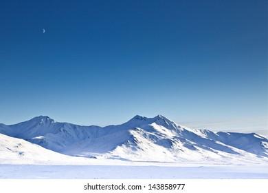 Chandalar Shelf in Winter, Alaska