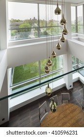 chandalier ina  a luxury duplex apartment