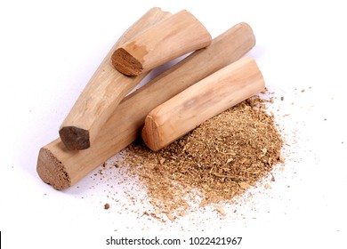 Chandan or sandalwood, sandalwood sticks, perfume, selective focus
