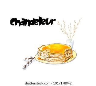 Chandeleur concept stack of crepes