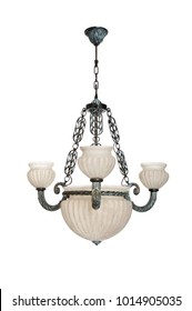 chandelier ceiling glass metal copper bronze design interior white background isolate wall lamps