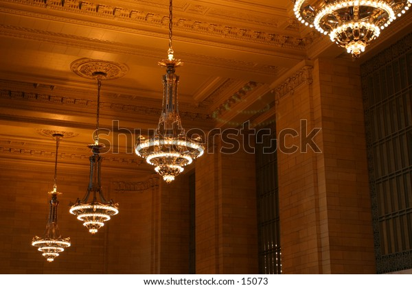 chandelier in Grand Central Station