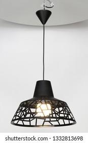 Chandelier lamp in modern style on background