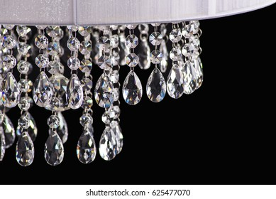 Chandelier Light In Interior Chrystal Close Upcrystal Part From