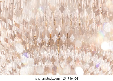 chandelier in luxury hotel with bokeh as foreground