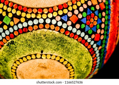 Chandelier made from colorful glass mosaic