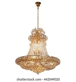 chandelier on white background