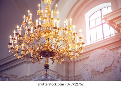 chandelier Palace Interior architecture background