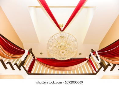 Chandelier and Stairs