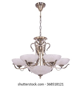 Chandelier in vintage style isolated on white background