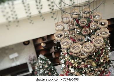 Chandeliers interior in hotels
