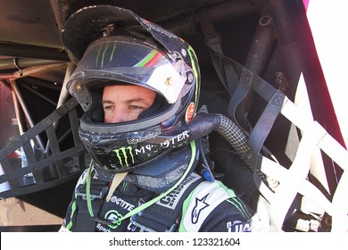 CHANDLER, AZ - OCT 26: Jeremy McGrath (2) on the grid in his Pro 2 Unlimited Lucas Oil Off Road Series racing for qualifying on October 26, 2012 at Firebird International Raceway in Chandler, AZ.