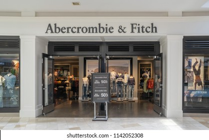 Chandler,Az,USA - 7.24.18: Abercrombie & Fitch is an American retailer known for it's collegiate-inspired casual wear,  its headquarters are in New Albany, Ohio.
