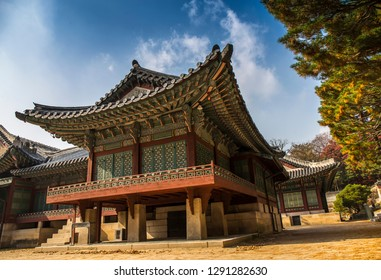 Changdeokgung Palace in Autumn in Seoul city, South Korea