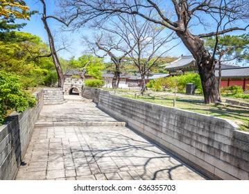 Changdeokgung, royal palace in Seoul, Secret garden, Spring time,