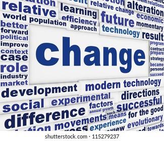 Change conceptual background. Motivation in success poster design