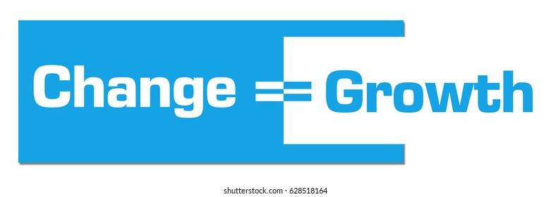 Change Is Growth Abstract Blue Background