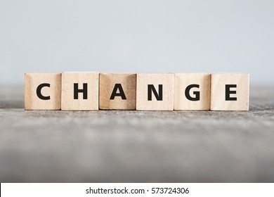 CHANGE word made with building blocks