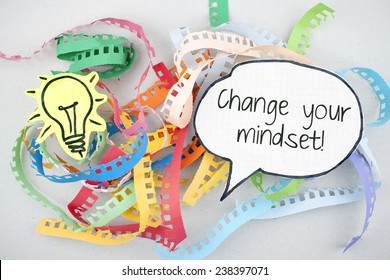 Change Your Mindset / Advice Encouragement Phrase Business Quote