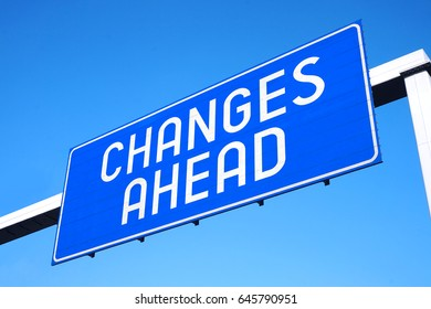 Changes ahead street sign