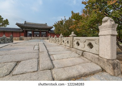 In Changgyeonggung Palace, Seoul, South Korea. Originally the Summer Palace of the Goryeo Emperor, it later became one of the Five Grand Palaces of the Joseon Dynasty