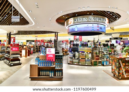 19ca74961550 Changi Airport Singapore OCTOBER 32018 Wines Stock Photo (Edit Now ...