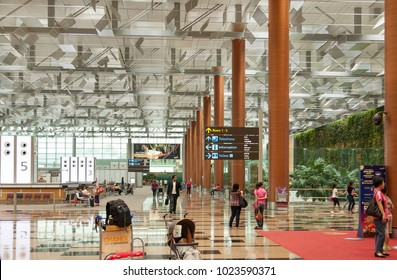 Changi - January 11, 2018:Changi International Airport of Singapore