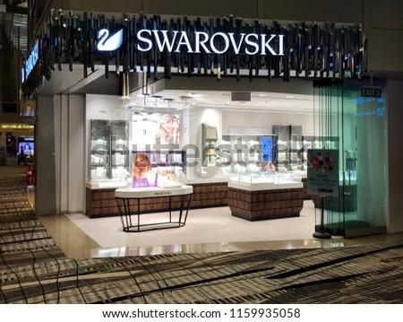 1a181d055e99 Changi Singapore August 18 2018 Swarovski Stock Photo (Edit Now ...