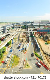 CHANGI, SINGAPORE - SEPTEMBER 25, 2017 : The Changi Airport Skytrain at Singapore Changi Airport, Singapore. Opened in 1990, it was the first auto-guided system in Asia