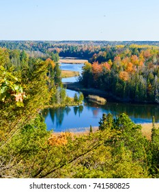 The Changing colors of Autumn on the High Banks of the Ausable River