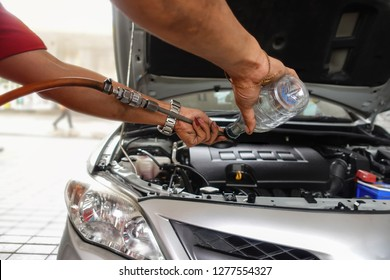 Changing the engine oil for car care