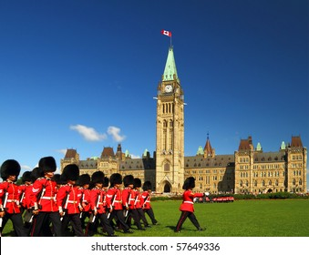Changing of the guard ceremony on Canada's parliament hill