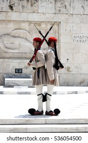changing of the guard near the building of the Greek parliament, Athens 31.05.2012