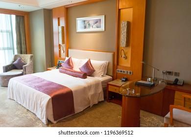 Changsha. China. 12 September 2018. Room at the Empark Grand Hotel Changsha