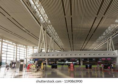 Changsha. China. 20 September 2018. Changsha international airport check-in hall