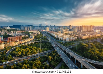 Changsha River West Xiangjiang New District City Scenery