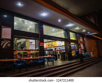 Changsha/China - 13 October 2018:Unacquainted chinese people and tourists  in Bus stop station From Changsha city to zhangjiajie City in china
