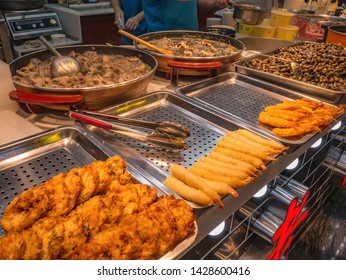 Changsha/China-17 October 2018:Chinese Street Food in Street Food Alley at Changsha city China.changsha is the capital and most populous city of Hunan province in china