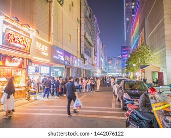 Changsha/China-17 October 2018:Unacquainted People with Beautiful urbanscape in Changsha city China.changsha is the capital and most populous city of Hunan province in china