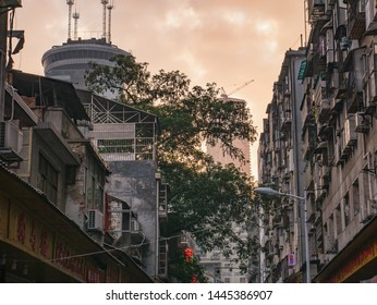 Changsha/China-18 October 2018:Beautiful urban scene in the morning of Changsha city China.changsha is the capital and most populous city of Hunan province in china