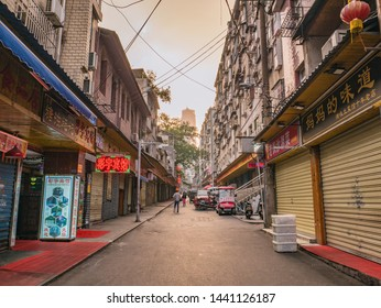 Changsha/China-18 October 2018:Unacquainted People or tourist walking on Taiping old Street in the morning at Changsha city hunan China.Taiping old street one of landmark in changsha city