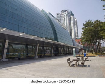 CHANGWON, SOUTH KOREA-MAR 29: Facade of Changwon Exhibition Convention Center (CECO), a major venue for meetings, incentives, conventions and exhibitions (MICE) on Mar 29, 2012 in Changwon, Korea.