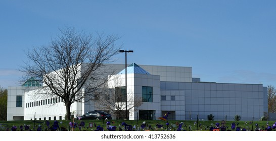 Chanhassen - May 1:  Paisley Park Studios as seen on May 1, 2016 , in Chanhassen, Minnesota.  Paisley Park was estate and studio on Prince Rogers Nelson.