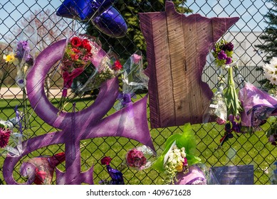 CHANHASSEN MN USA - April 22 2016 - Remembering Prince at Paisley Park