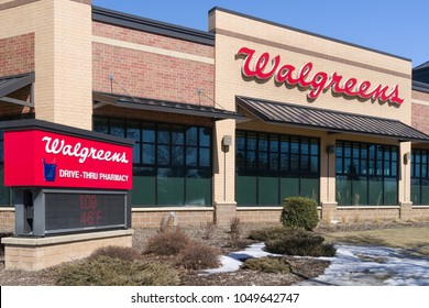 CHANHASSEN, MN/USA - MARCH 17, 2018: Walgreens store exterior and sign. Walgreens is the largest drug retailing chain in the United States.