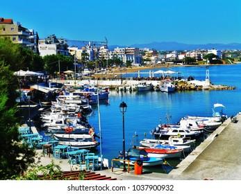 Chania harbor, Crete, Greek Islands, local