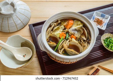 Chanko nabe  is a Japanese stew commonly eaten in vast quantity by sumo wrestlers as part of a weight-gain diet.
