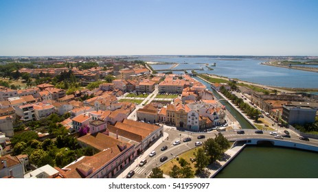 Channels of Aveiro, Portugal top view aerial