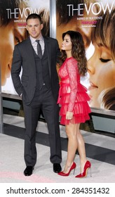 Channing Tatum and Jenna Dewan at the Los Angeles premiere of 'The Vow' held at the Grauman's Chinese Theatre in Hollywood on February 6, 2012.