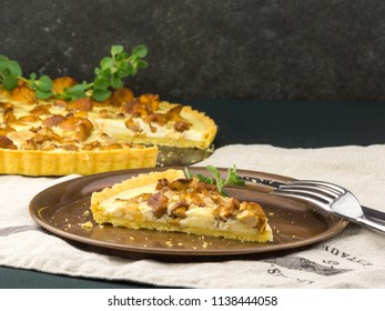 Chanterelle Mushrooms Tart